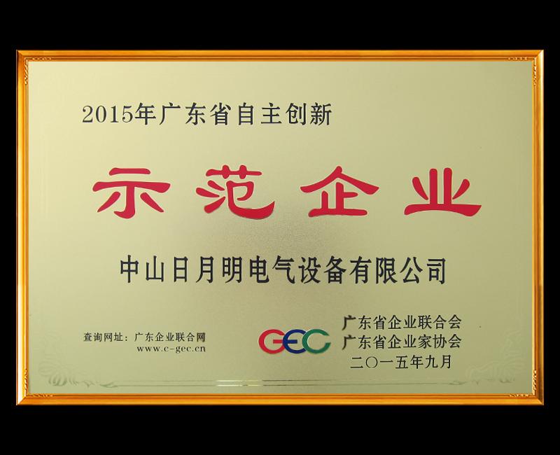 广东省自主创新示范企业